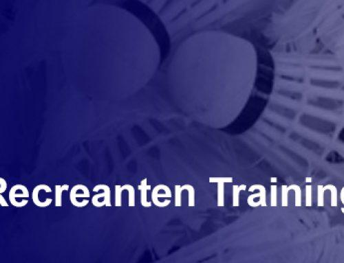 Start recreanten seniorentraining 2019-2020
