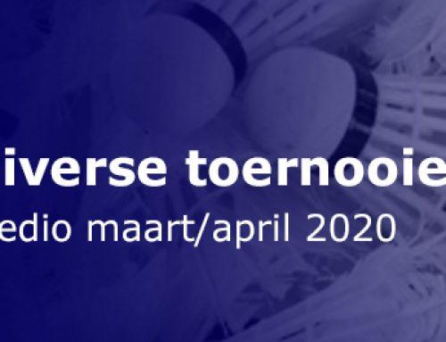 Diverse toernooien medio maart/april